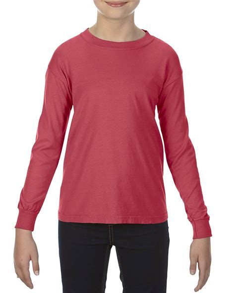 crimson comfort colors comfort colors c3483 youth garment dyed t shirt