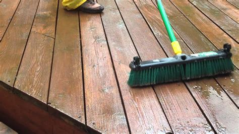 gently strip  finishes   deck