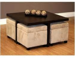 Coffee Table With Four Ottomans Dhp 3515096 Club Table With Four Ottomans 3515096 Coffee