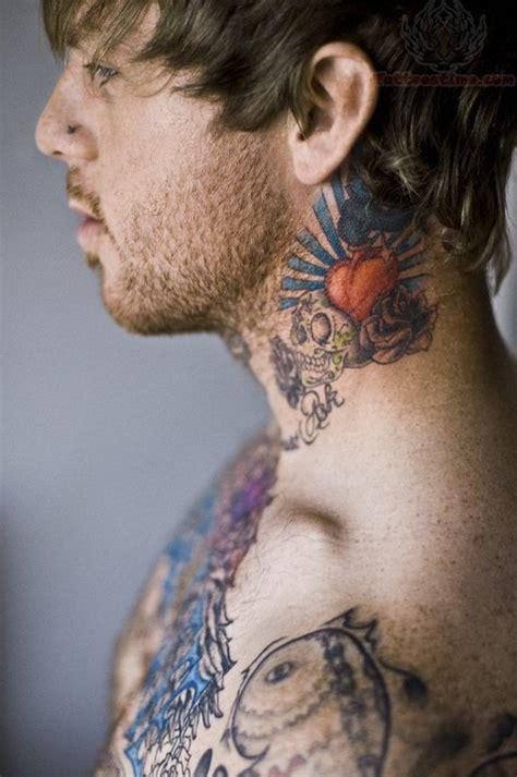 tattoo on neck boy charming heart tattoo on boy neck