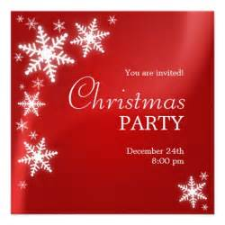 Snowflakes red christmas party invitation 5 25 quot square invitation card