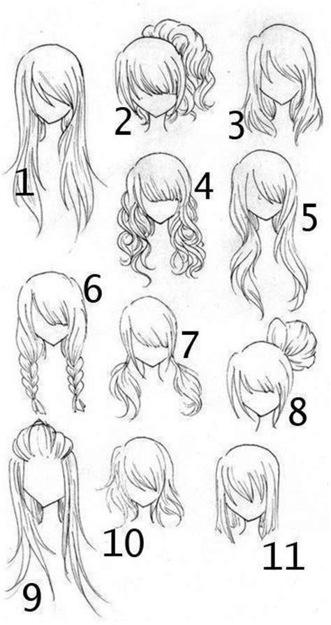 anime hairstyles ideas bienvenidos peinados de anime a lapiz