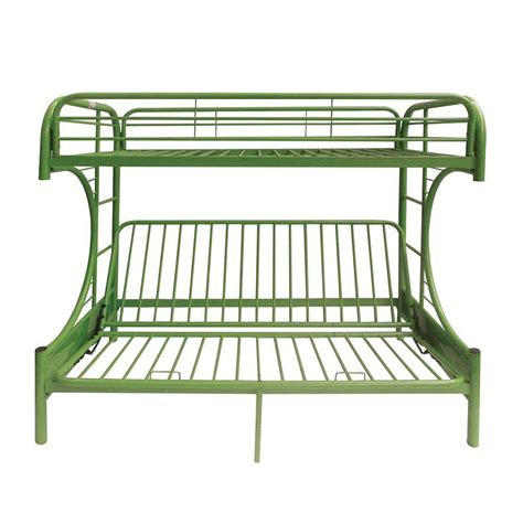 Acme Eclipse Bunk Bed Acme Furniture Eclipse Green Metal Bunk Bed 02091w Gr The Home Depot