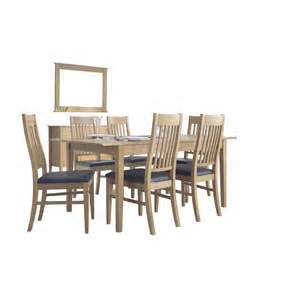 Light Oak Dining Table And 6 Chairs Montreal Oak Tables