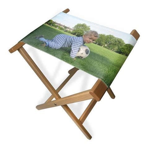 personalized canvas folding chairs custom folding stool chair with a printed canvas seat