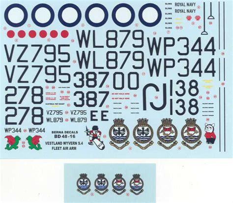 Berna Set Black Mininos berna decals 1 48 westland wyvern s 4 carrier fighter ebay