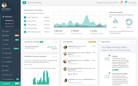 Bootstrap Templates For Project Management | inspinia responsive admin theme admin dashboards