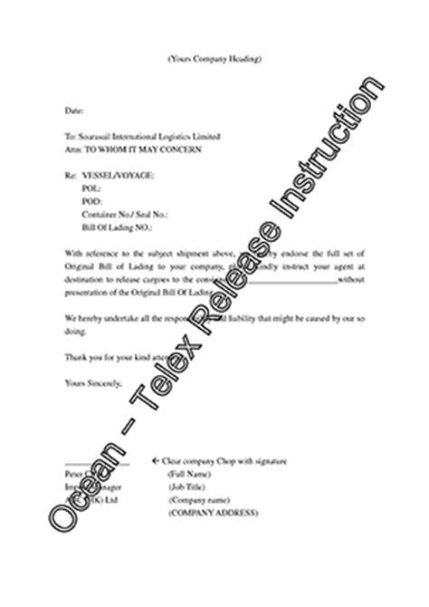 Telex Release Guarantee Letter Soarasail Info