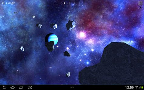 3d Live Wallpaper To by Asteroids 3d Live Wallpaper Free Android Live Wallpaper