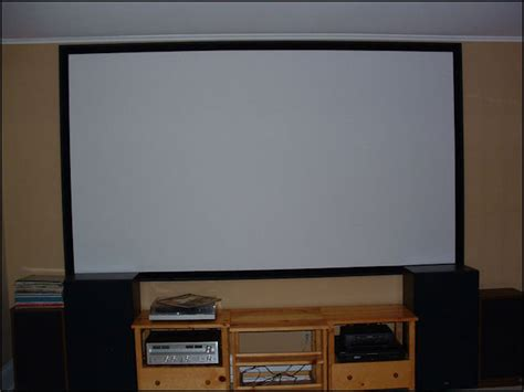 diy projection screen frame build your own projector screen