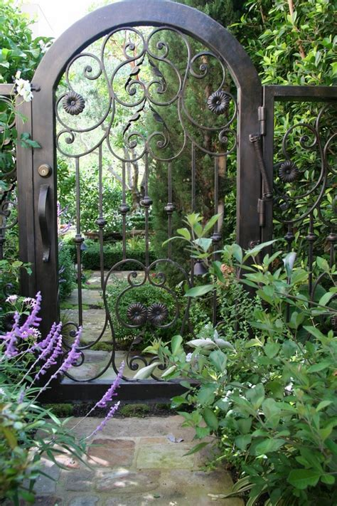 Garden Wrought Iron Decor Metal Garden Gates Wrought Iron Garden Gates Or Modern Designs Deavita