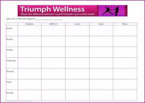 blank menu planner template top diet foods healthy menu plan