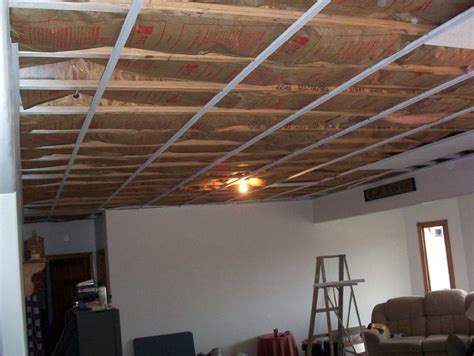 basement ceiling installation 119 best basement images on basement ideas