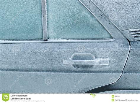 back door frozen shut stock images image 54244