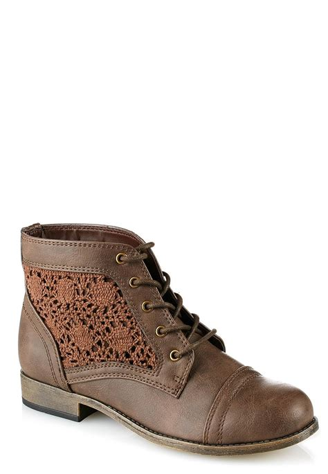 crochet ankle boots cato fashions