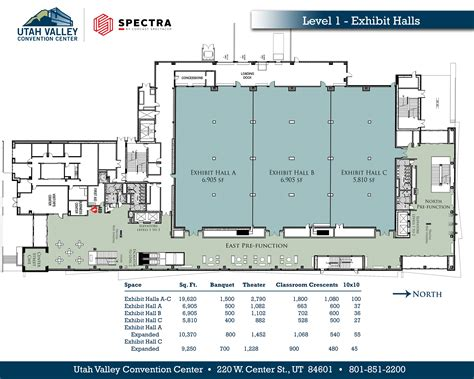 facility floor plan view our floor plans utah valley convention center