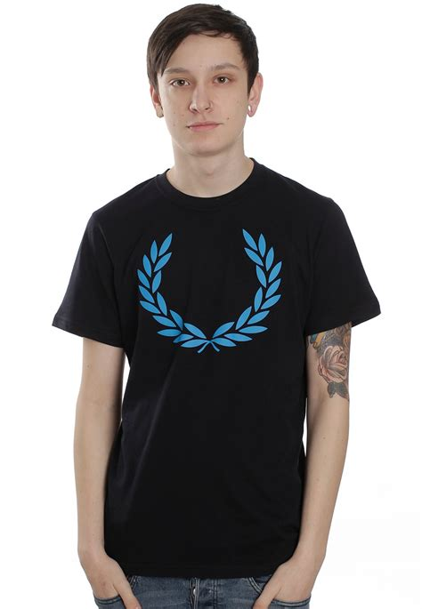 T Shirt Fred Perry Navy fred perry laurel print navy t shirt streetwear shop
