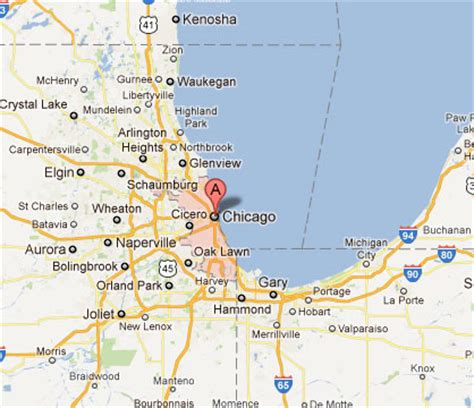 chicago map illinois chicago map il