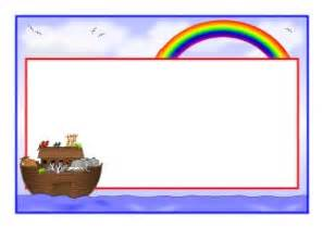 Bed Day Noah S Ark Border Clipart 27