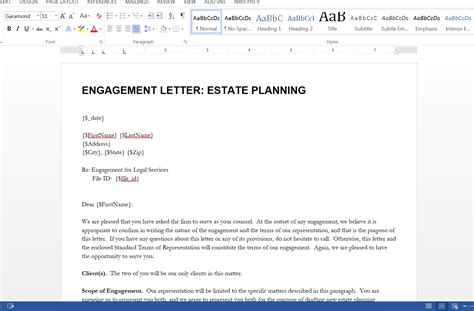 of engagement document template send a letter of engagement from clio webmerge