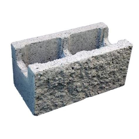 decorative concrete blocks home depot 8 in x 8 in x 16 in gray concrete block 100002700 the