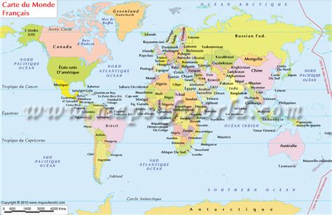 printable world map in french world map in french