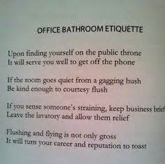 Bathroom Etiquette In The Workplace Bathroom Etiquette At Work Pictures To Pin On