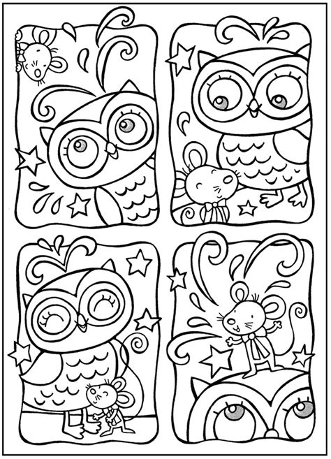 owl doodle coloring page welcome to dover publications