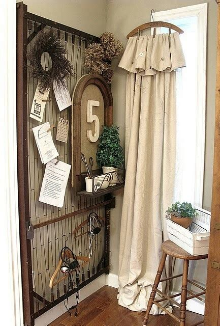 repurpose old curtains repurpose old bed spring my craft ideas pinterest