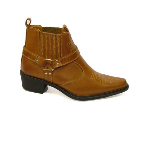 ankle cowboy boots u s brass eastwood s ankle cowboy boot brown