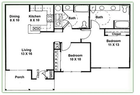 2 Bedroom 2 Bath Floor Plans Duplex Plans 2 Bedroom 2 Bath Studio Design Gallery
