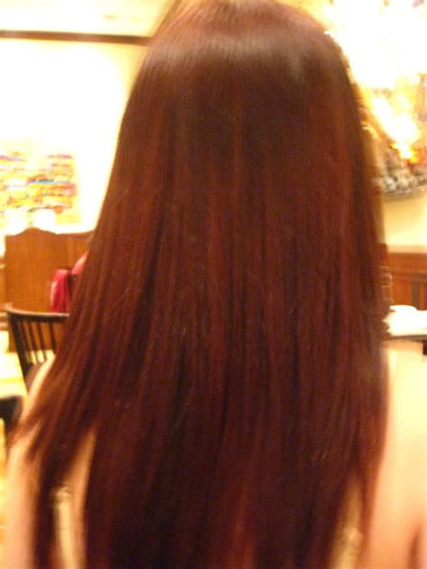 my hair is straight in the back mahogany hair color pictures