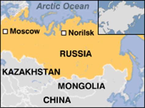norilsk russia maps news europe toxic of secretive siberian city