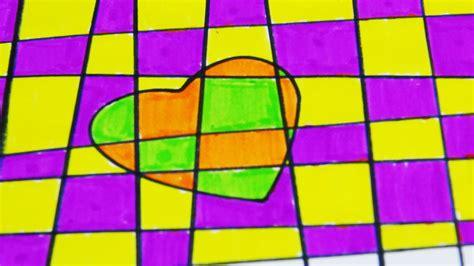 Muster Malen diy herz bild malen mit karo muster malen lernen f 252 r