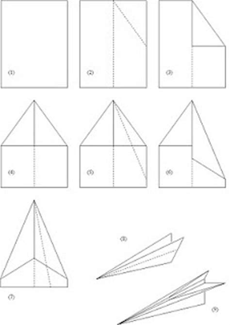 How To Make A Standard Paper Airplane - how to make a paper airplane search