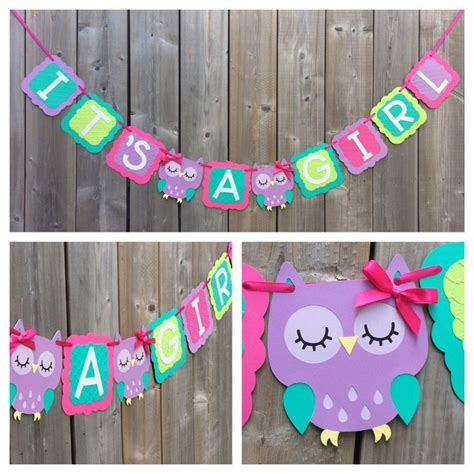Owl Boy Baby Shower Decorations by Best 25 Owl Banner Ideas On Owl Shower Owl
