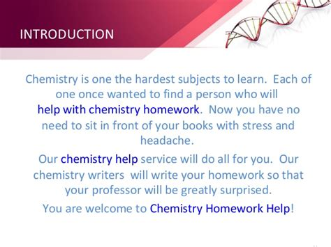 Homework Help In Chemistry by Physical Chemistry Homework Help Stonewall Services