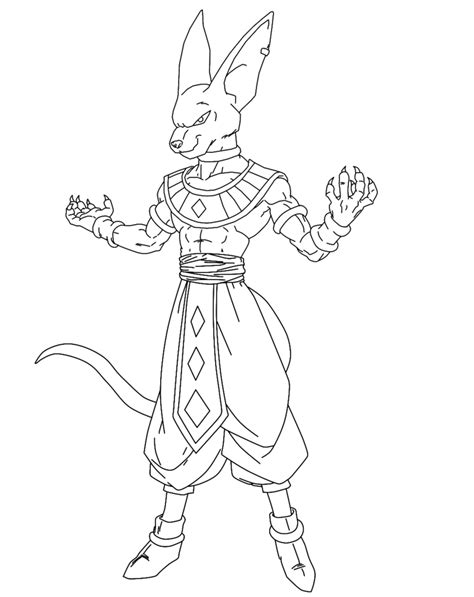 dragon ball z xenoverse coloring pages beerus lineart by nassif9000 on deviantart