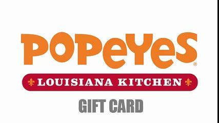 Popeyes Gift Cards - chipotle gift card 2015 january free gift card dailymotion wideo