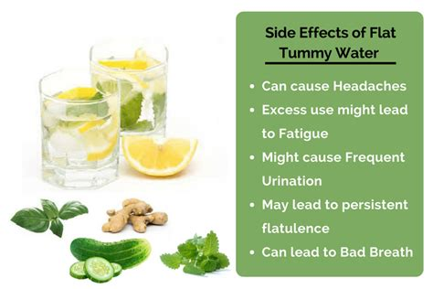 Lemon Cucumber Mint Detox Side Effects by Flat Tummy Water Side Effects How Often To Drink For