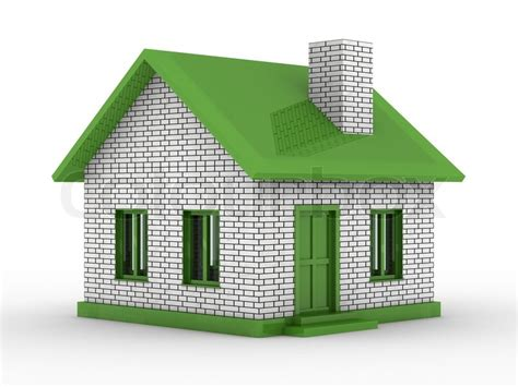 new 3d house isolated on white background small house on white background isolated 3d image stock