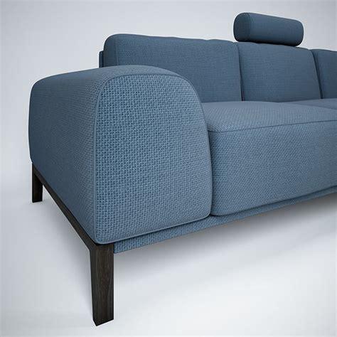 Sofa With Headrest By Trendmanufaktur 3d Model Max Obj Mtl