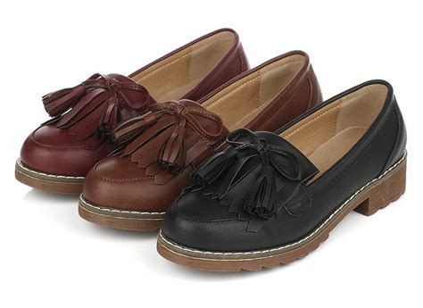 vintage loafers womens womens slip on casual shoe loafers tassels