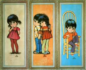 Vintage 60s Home Decor Reserved For Christine Vintage 70s Big Eye Kids By