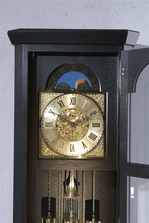 Handmade Grandfather Clock - german grandfather clock rheine solid oak black laquered