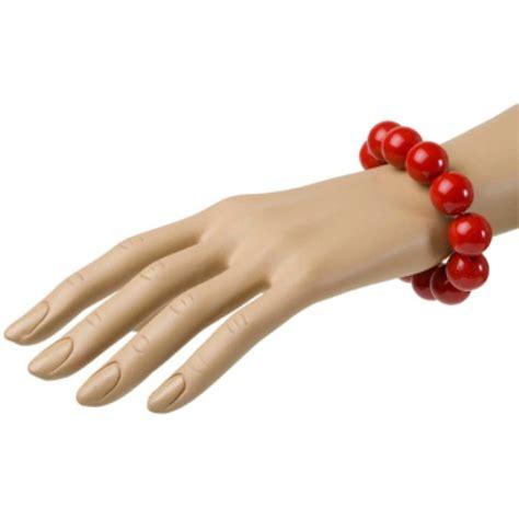 len 70iger jahre 70er jahre perlen armband in rot