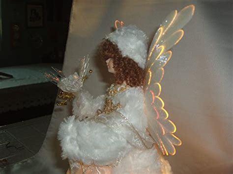 animated white fiber optic angel christmas tree topper 18