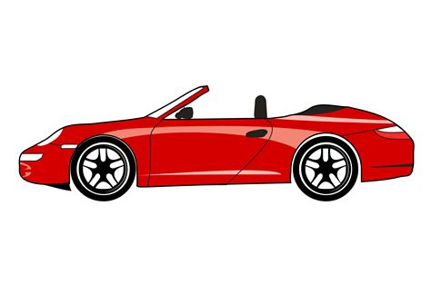cartoon sports car png red sports car clipart clipart best