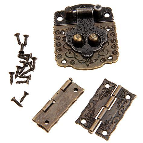 2pcs chinese brass hardware vintage bronze wooden box