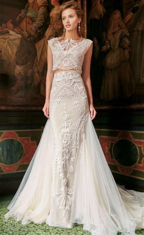 21 stylish two piece summer wedding dresses